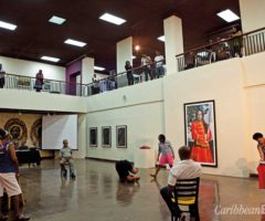 A performance in the atrium of the National Gallery of Jamaica. Courtesy National Gallery of Jamaica