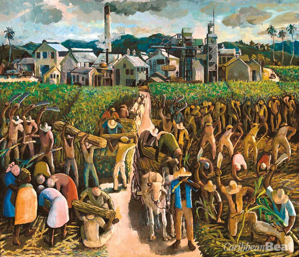 Crop Time (1955), by Albert Huie; acrylic on board, 87 x 99 cm. Courtesy National Gallery of Jamaica