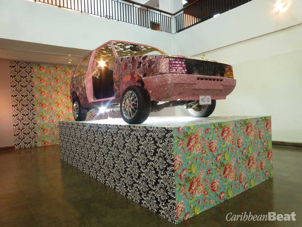 Cultural Soliloquy (A Cultural Object Revisited (2010), by Ebony G. Patterson; mixed media installation, size irregular. Courtesy National Gallery of Jamaica