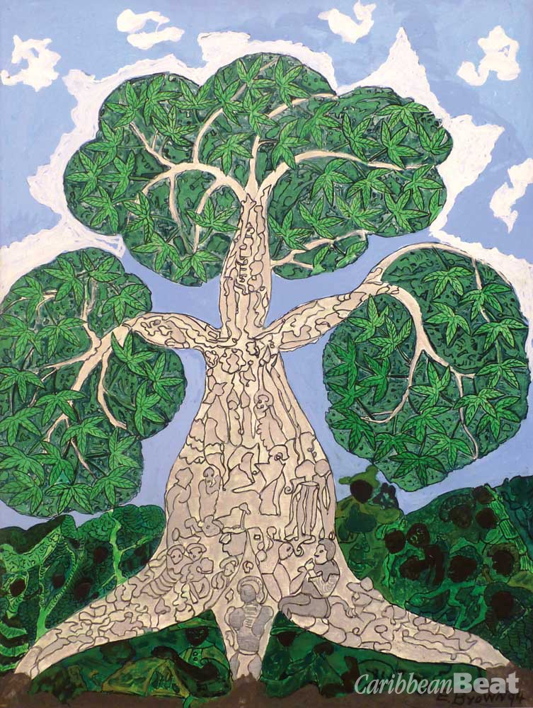 Duppy Cotton Tree (1994), by Everald Brown; oil on canvas, 82 x 62 cm. Courtesy National Gallery of Jamaica
