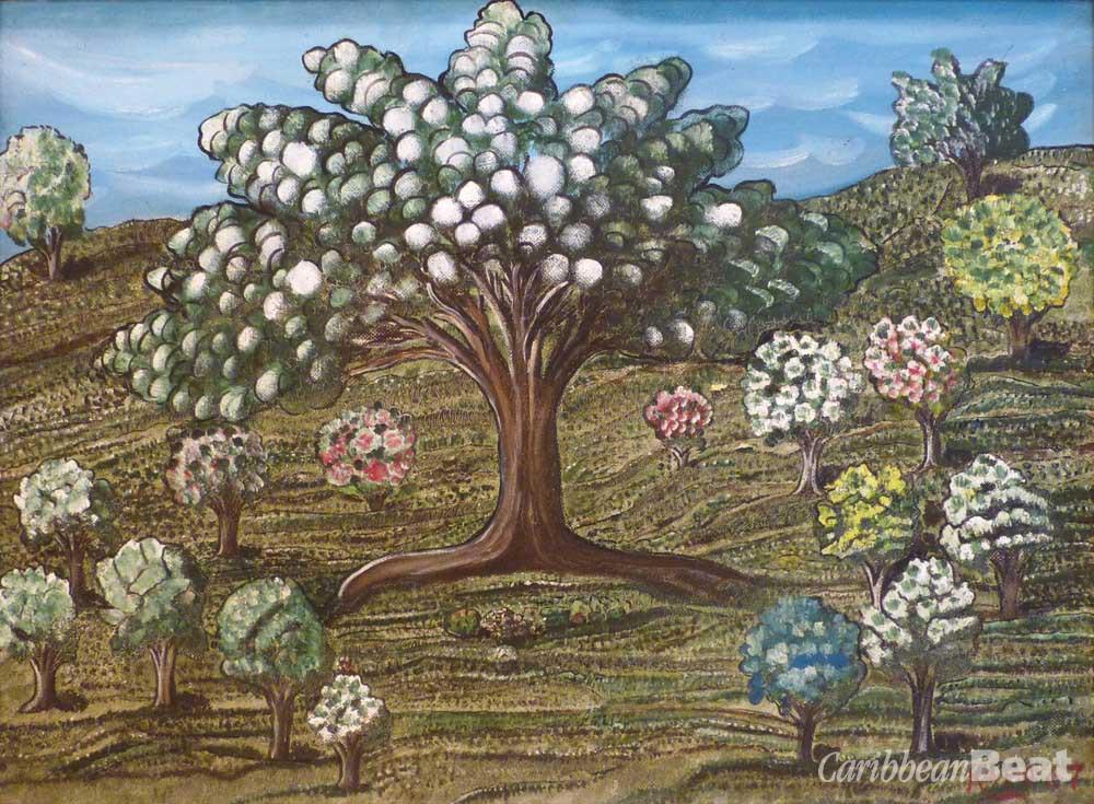 "Peaceful Quietness (1967), by  Mallica ""Kapo"" Reynolds; oil on hardboard, 74 x 97 cm. Courtesy National Gallery of Jamaica"