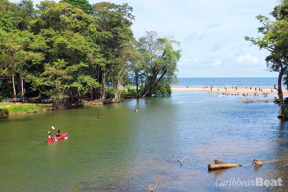 Enjoying the Balandra River where it empties into the sea. Photograph by MEP publishers