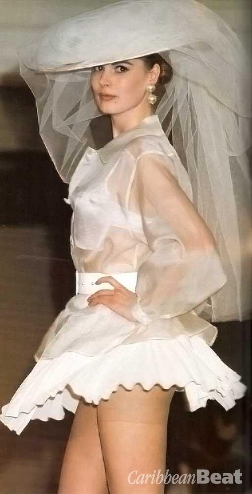 C'est comme ça: sheer shirt and pleat skirt (£190)