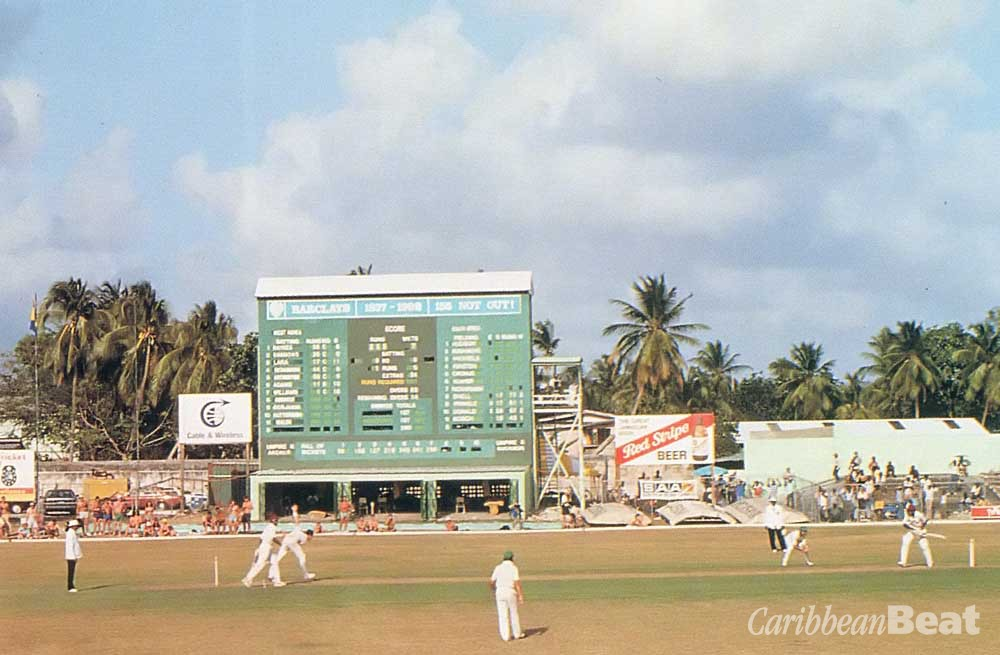 South Africa returns to Caribbean test cricket at Kensington Oval, Barbados, April 1992. Photograph by Allsport