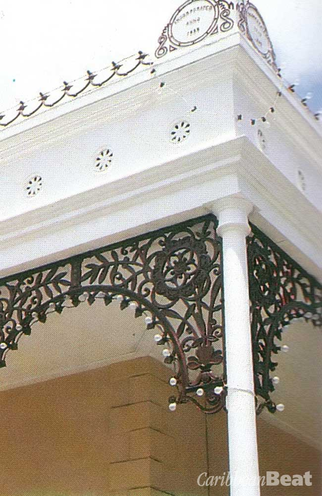 Delicate wrought iron work on a Georgetown office building. Photograph by Carol Lee
