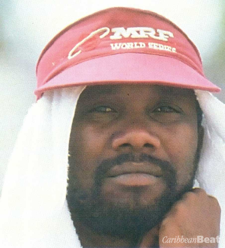 Superstars of West Indies cricket: Malcolm Marshall. Photograph by Allsport