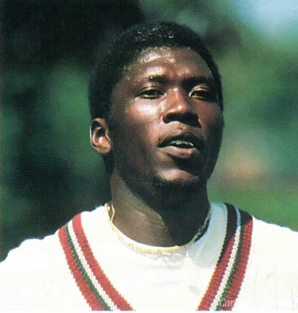 Superstars of West Indies cricket: Joel Garner. Photograph by Allsport