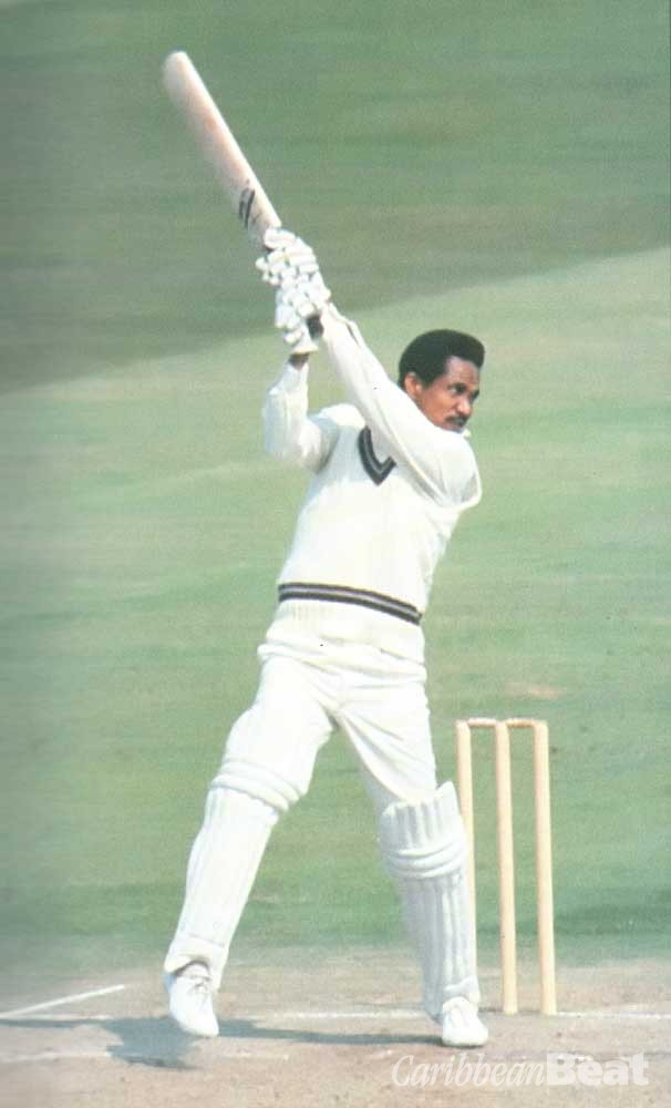 Sir Garry Sobers at the wicket, 1973. Photograph by Allsport