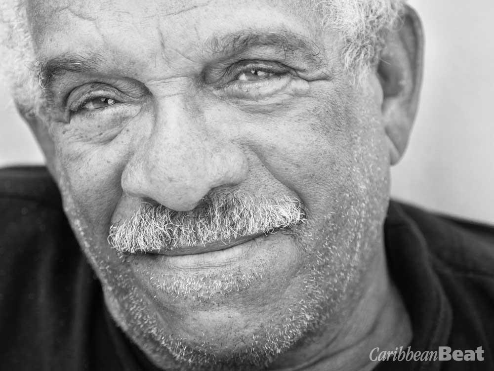 Derek Walcott. Photograph by Danielle Devaux, courtesy Farrar, Straus and Giroux