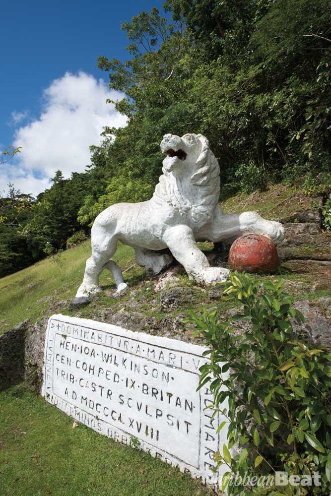 The lion of Gun Hill. Photograph by Mike Toy