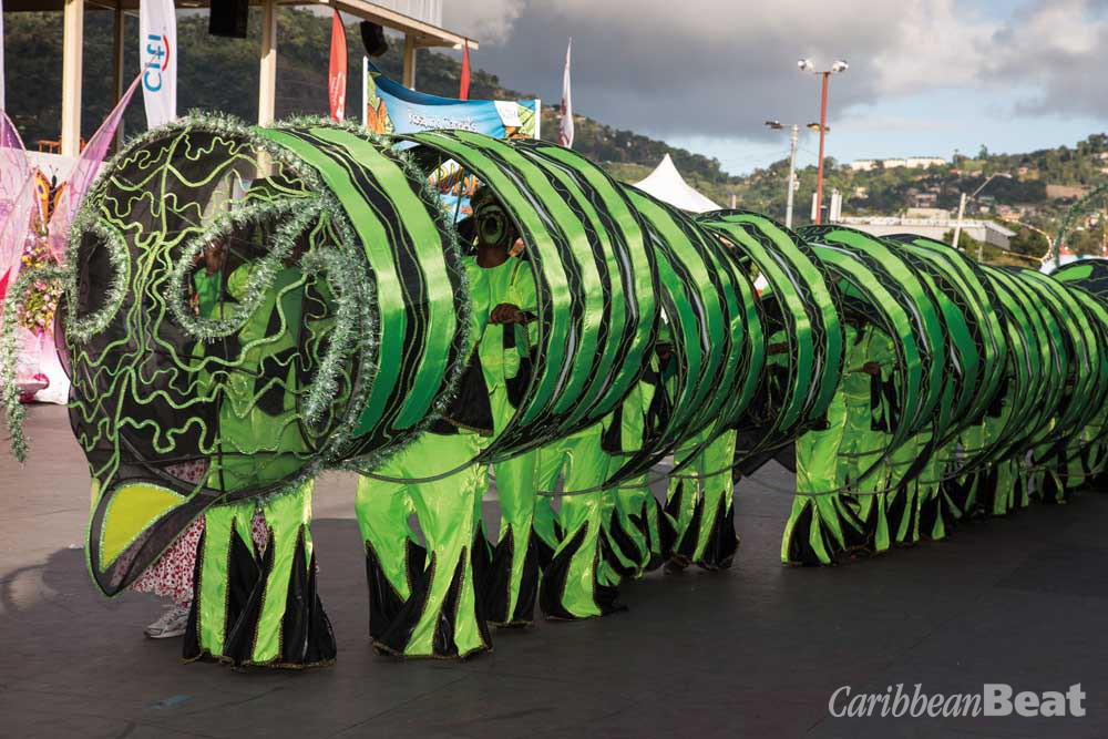 A many-segmented caterpillar from 2013's Lost in Paradise. Photography by Butch Limchoy
