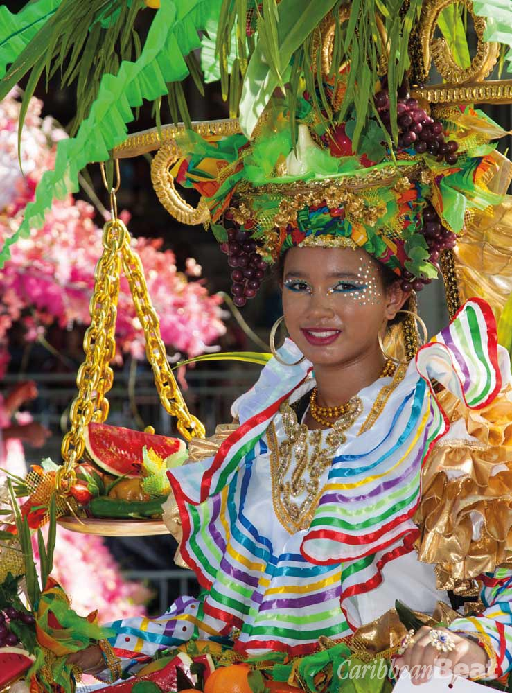 A happy masquerader in the 2011 band The Story Teller. Photograph by Butch Limchoy