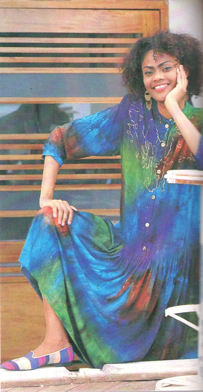 Cotton challis dresses hand-patterned in hummingbird colours by Coryatt Designs