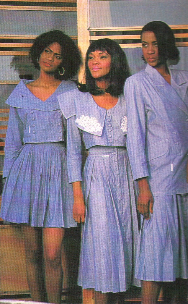 Sky-blue cotton chambray dresses by Radical Designs
