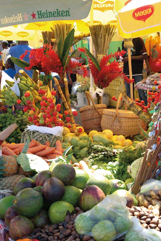 New Market, Roseau, Dominica. Photograph by Celia Sorhaindo