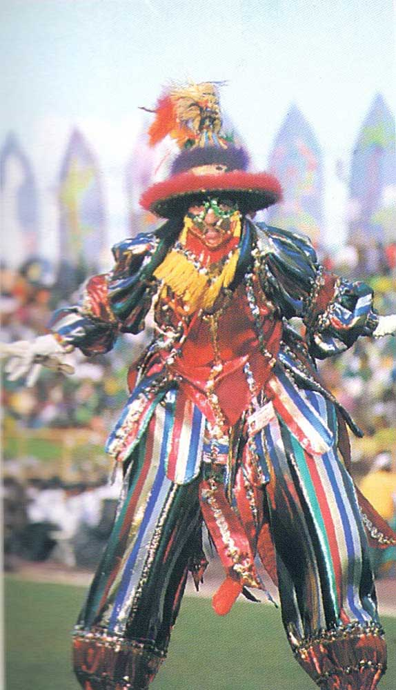 Dancers, drummers, musicians an traditional figures like the stiltmen were every where. Photograph by Harold Prieto