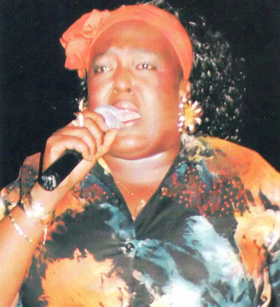 Calypsonian Singing Sandra won the Cattiest calypso crown. Photograph by Paul Marius