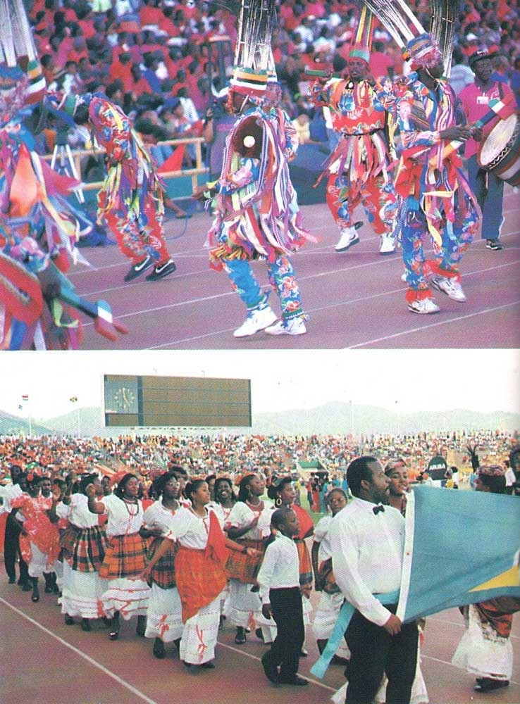 Artists from St. Kitts- Nevis and St. Lucia. Photograph by Harold Prieto and Paul Marius