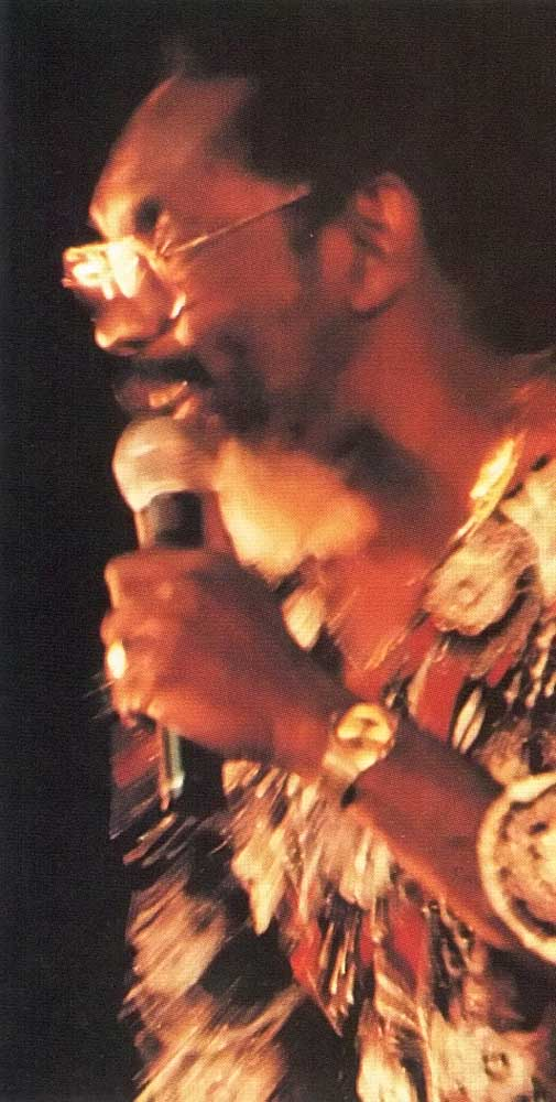 The 1993 Calypso Monarch, Mighty Chalkdust. Photograph by Abigail Hadeed