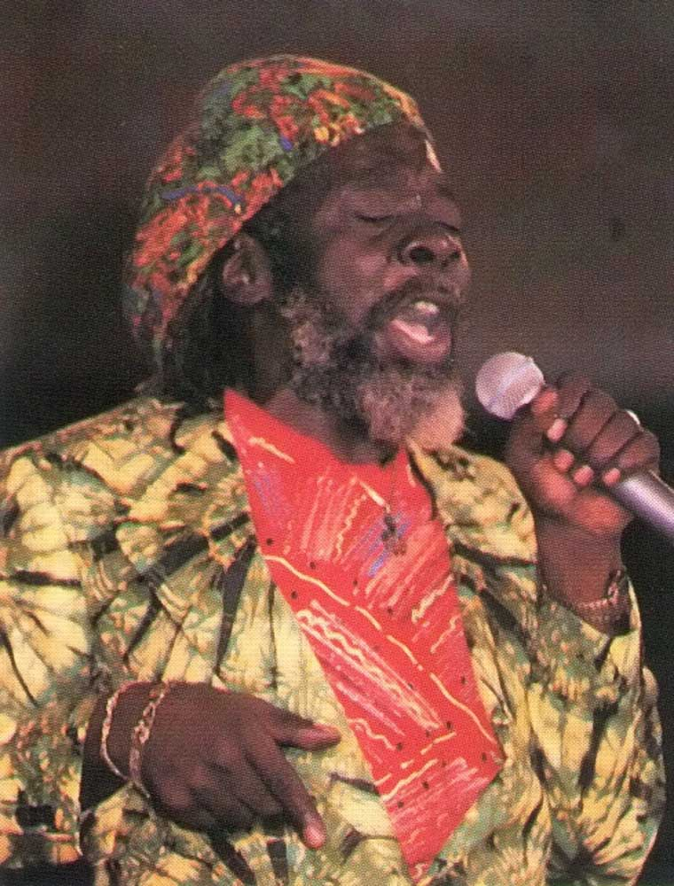 People's calypsonian- Black Stalin: this season he sings with the new Kisskidee Kaiso Tent. Photograph by Ian Yee