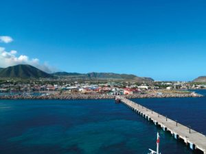 The harbour of Basseterre, founded in 1627, and capital of St Kitts since the eighteenth century. Photograph by Jordan James Munyon Martin/shutterstock.com