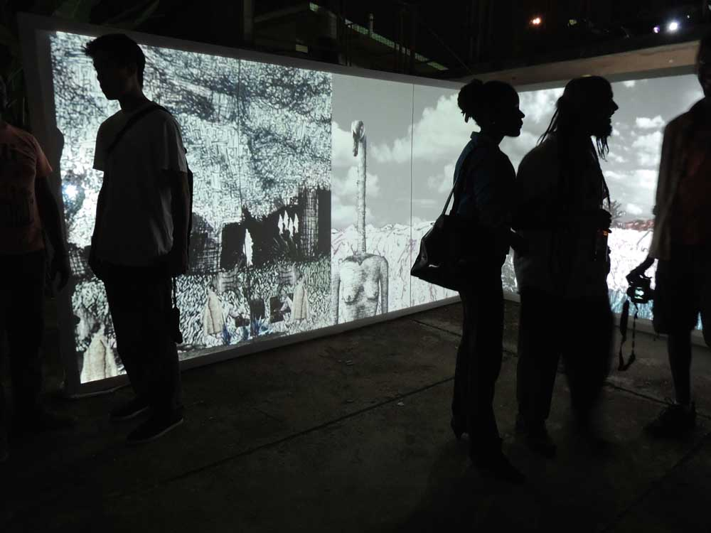 They Say You Can Dream a Thing More Than Once installed at Alice Yard in Port of Spain. Photograph courtesy Alice Yard