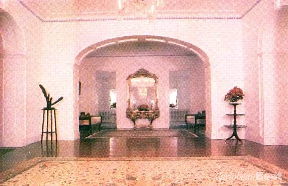 One of the huge rooms inside Government House. Photograph by Penny Hyman- Roach/ Barbados National Trust