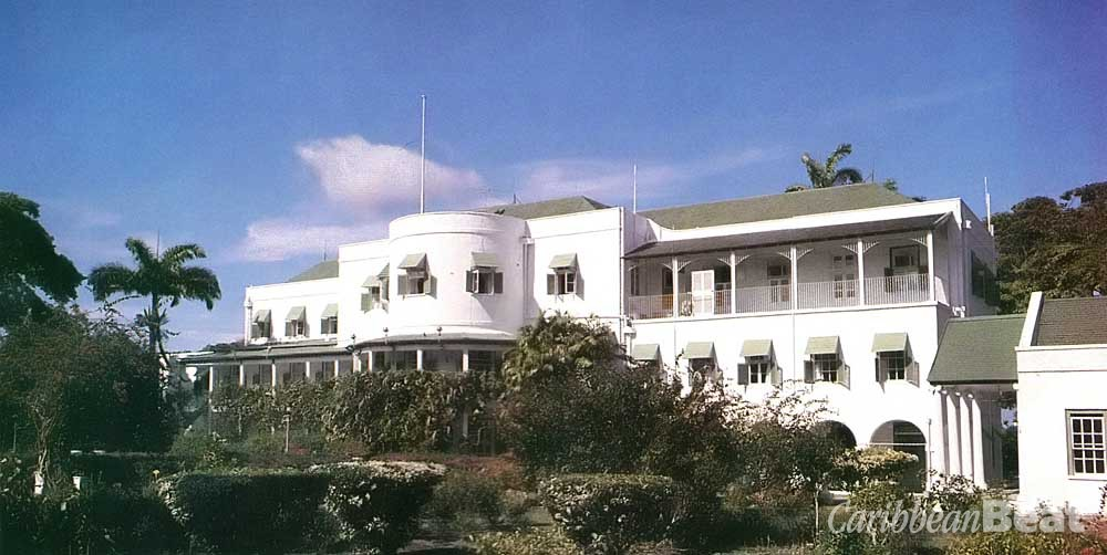 Government House, the official residence of Barbados's Governor- General, where royal visitors and heads of state have been received for generations. Photograph by Penny Hyman- Roach/ Barbados National Trust