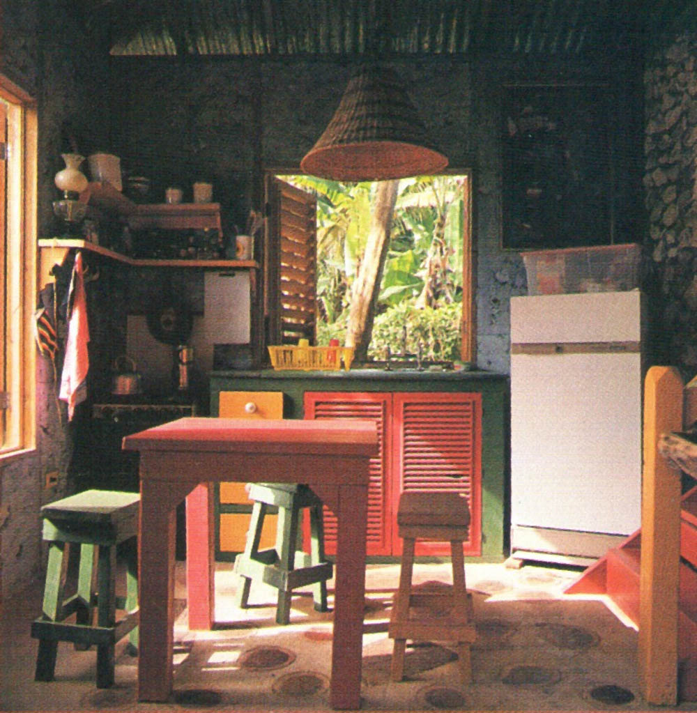 The studio kitchen, seen from the terrace. Photograph by Steve Cohn