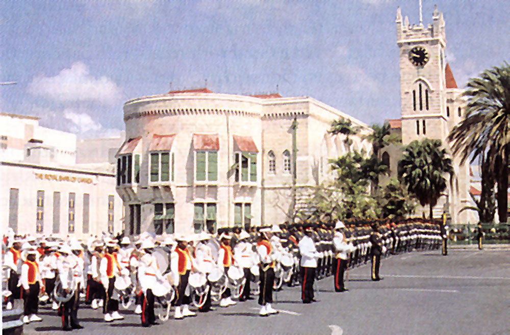 The Parliament buildings in Bridgetown. Photograph by Eleanor Chandler