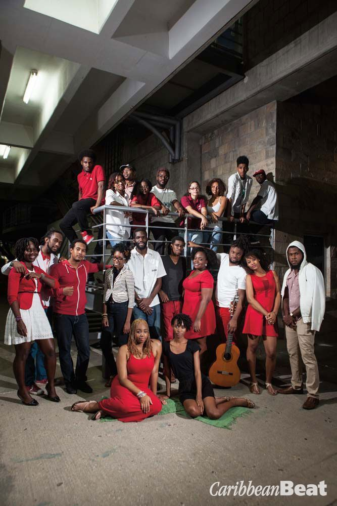 Members of the 2 Cents Movement and their associates. Top row, left to right: Kito Fortune, Ariel Wolffe, Akile Wallace, Stephanie Smith, Brandon O'Brien, Karina Rodriguez, Ariana Herbert, K.C. Martin, David Lennard. Bottom row: Crystal Skeete, Idrees S
