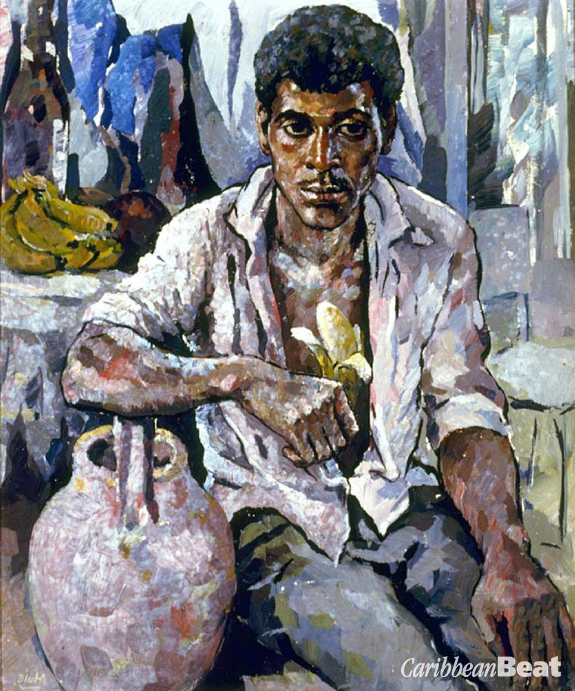 Detail of Lunch Time (1966; 61cm x 51 cm; collection of Jamaica Inn)