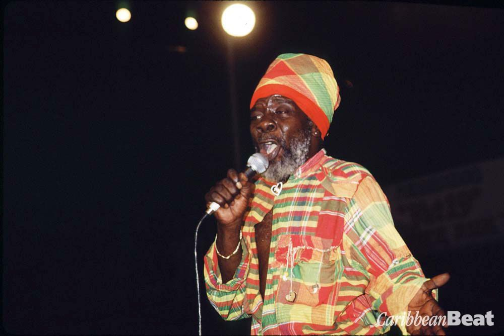 Black Stalin the Dimanche Gras show 1995. Photograph by Mark Lyndersay