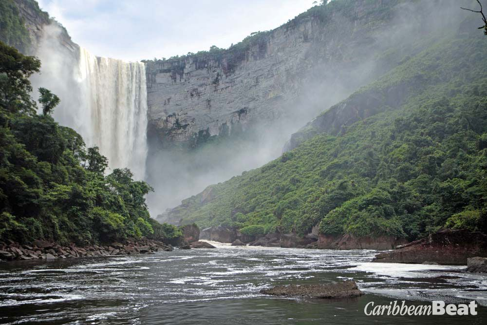 Few travellers approach this close to the foot of Guyana's Kaieteur Falls. Photograph by Stuart Dunn
