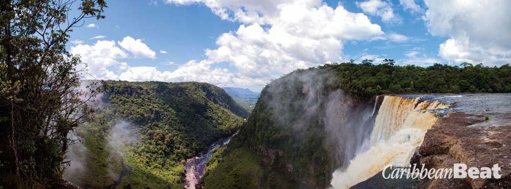The view from the top of Kaieteur down the Potaro gorge. Photograph by Micheal Lam