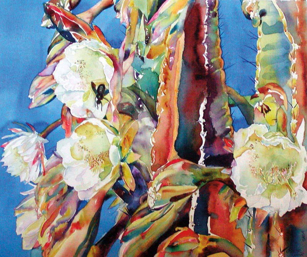 Painting by Saban artist Heleen Cornet. Courtesy Heleen Cornet