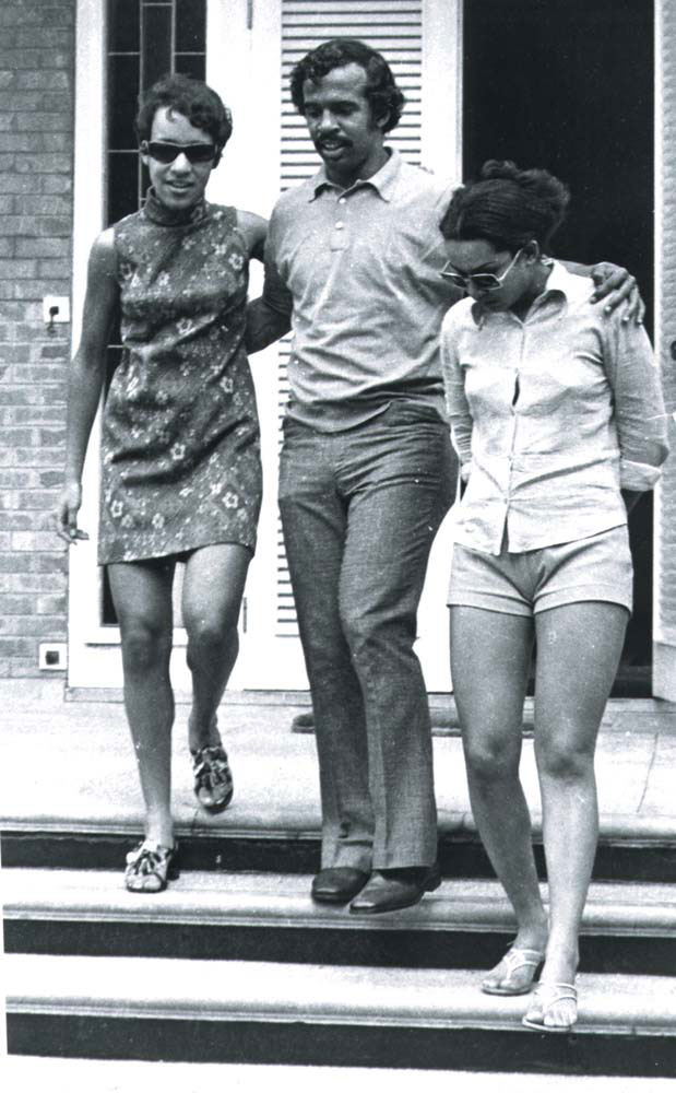 Williams's children, Pamela (left), Alistair and Erica. Photograph courtesy The Ministry of Communication and Information Technology