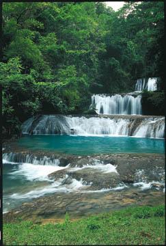 Dunn's River Falls. Photograph courtesy Jamaica Tourist Board