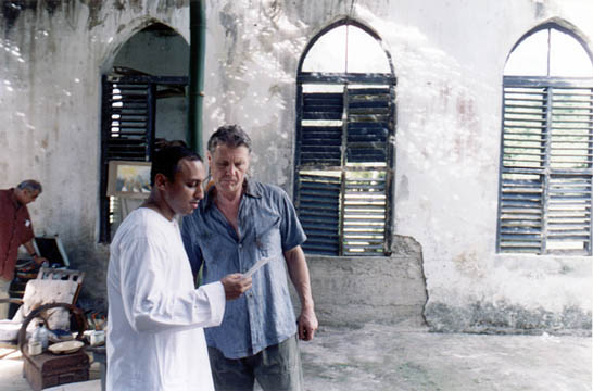 Actors Aasif Mandvi (left) and James Fox. Photograph by David Tindall