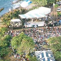 Jazz time on Pigeon Island, St Lucia. Photograph by Chris Huxley