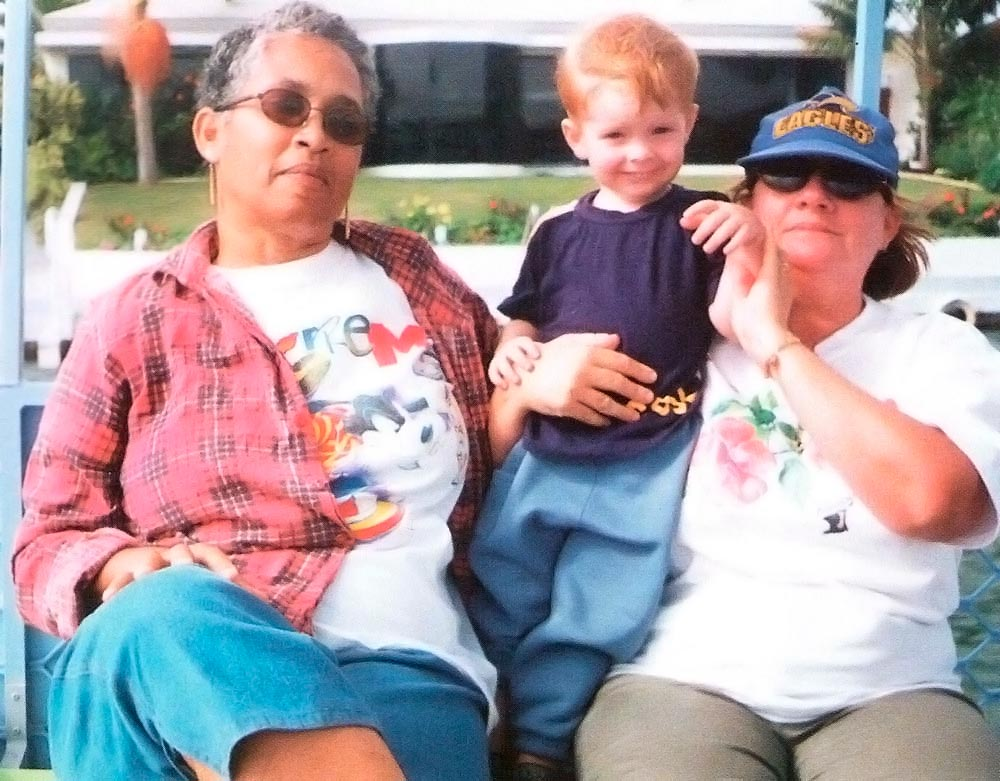Maura (left) and Maureen with grandson Dylan. Photograph courtesy Maura Cooseelal