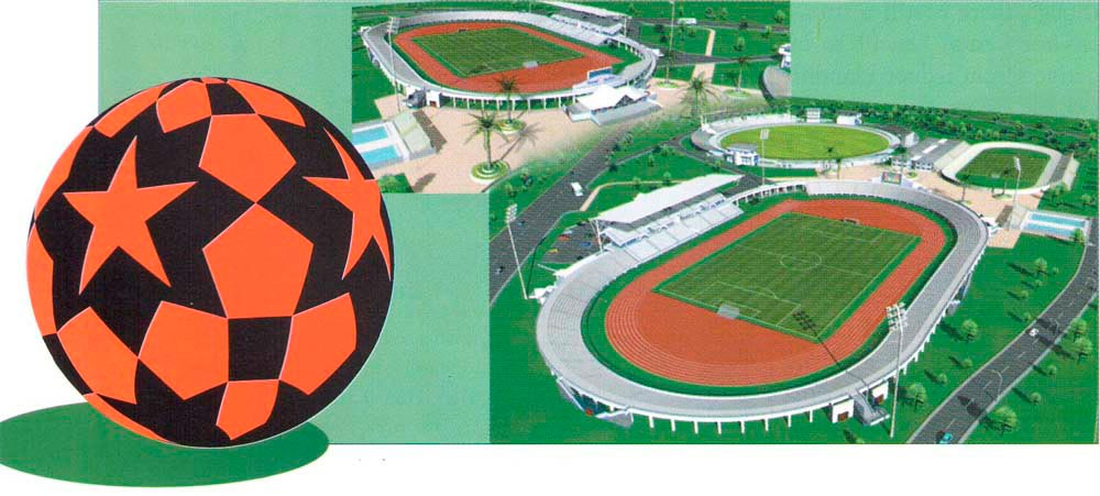 Architecture's impression of Bacolet Stadium, Tobago. Photograph courtesy LOC 2001