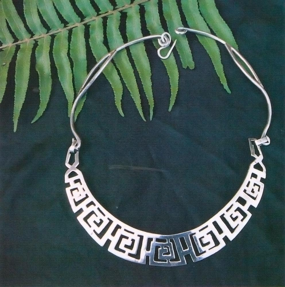 Silver necklace, from the Amerindian collection. Photograph courtesy  Elizabeth Deane-Hughes