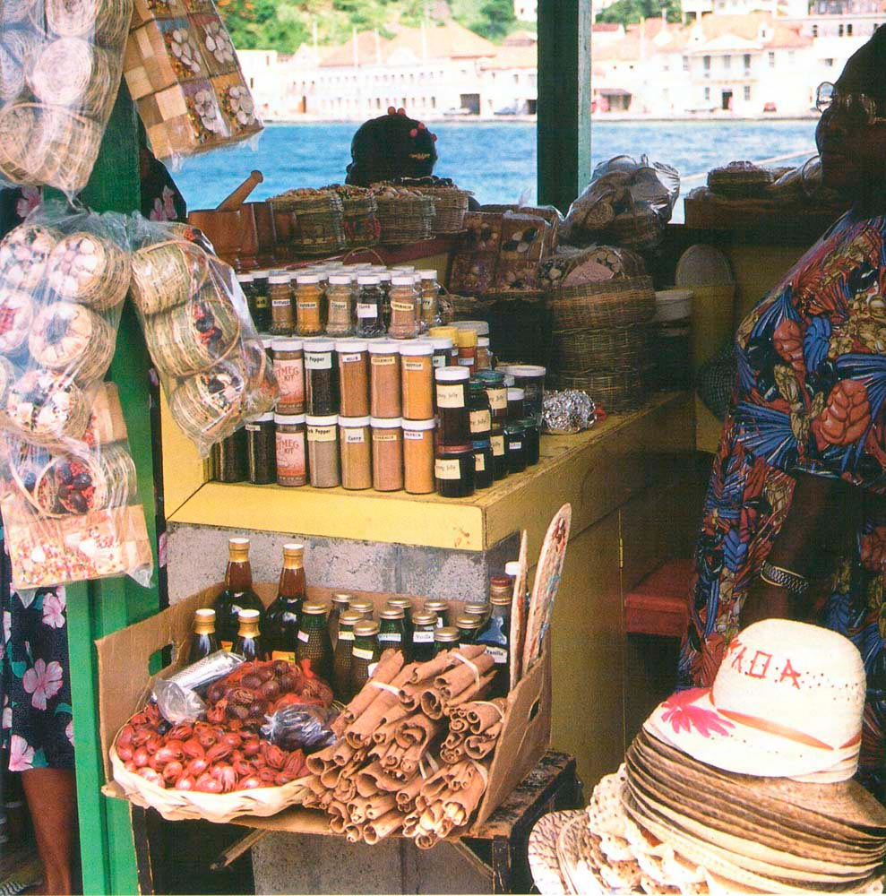 Spice stall alongside the docks. Photograph by Chris Huxley