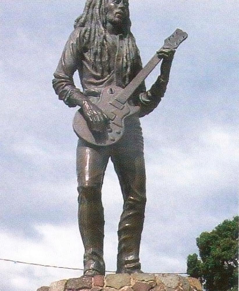 Statue of Bob Marley. Photograph by Sean Drakes