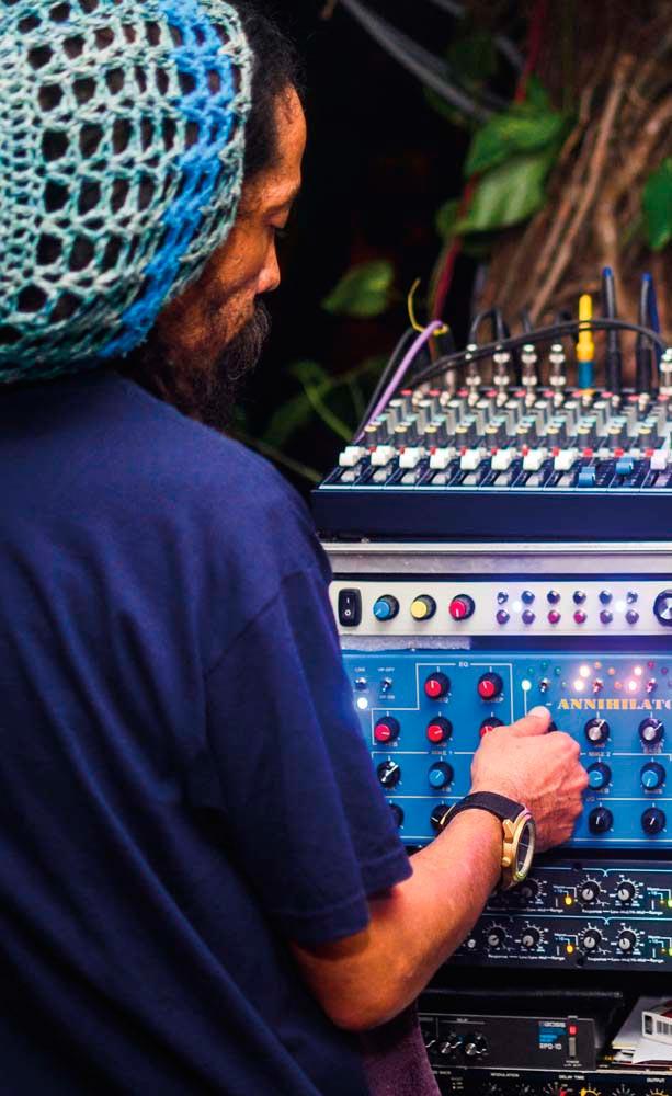 DJ Gabre Selassie, founder of Kingston Dub Club. Photograph by Matthew Henry