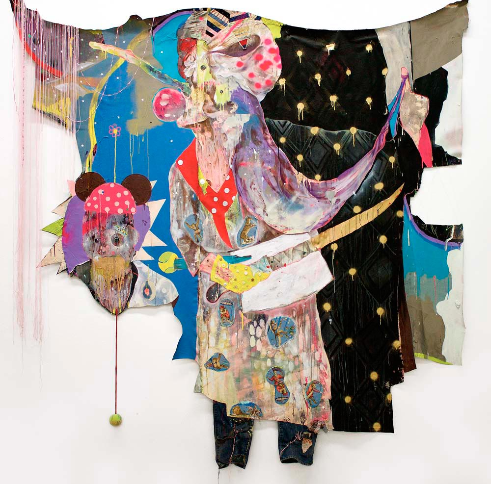 Fairy Godmother (2014), mixed media on cut canvas, 98 x 102 inches. Photograph courtesy Lavar Munroe