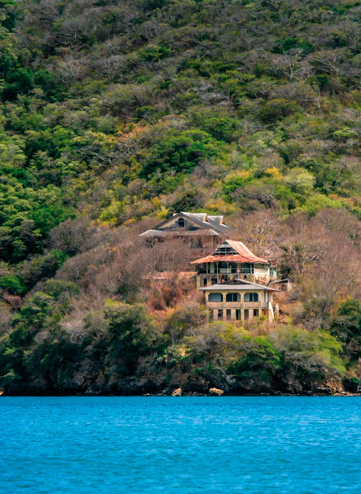 The eerie ruins of Chacachacare. Photograph by Nicholas Bhajan