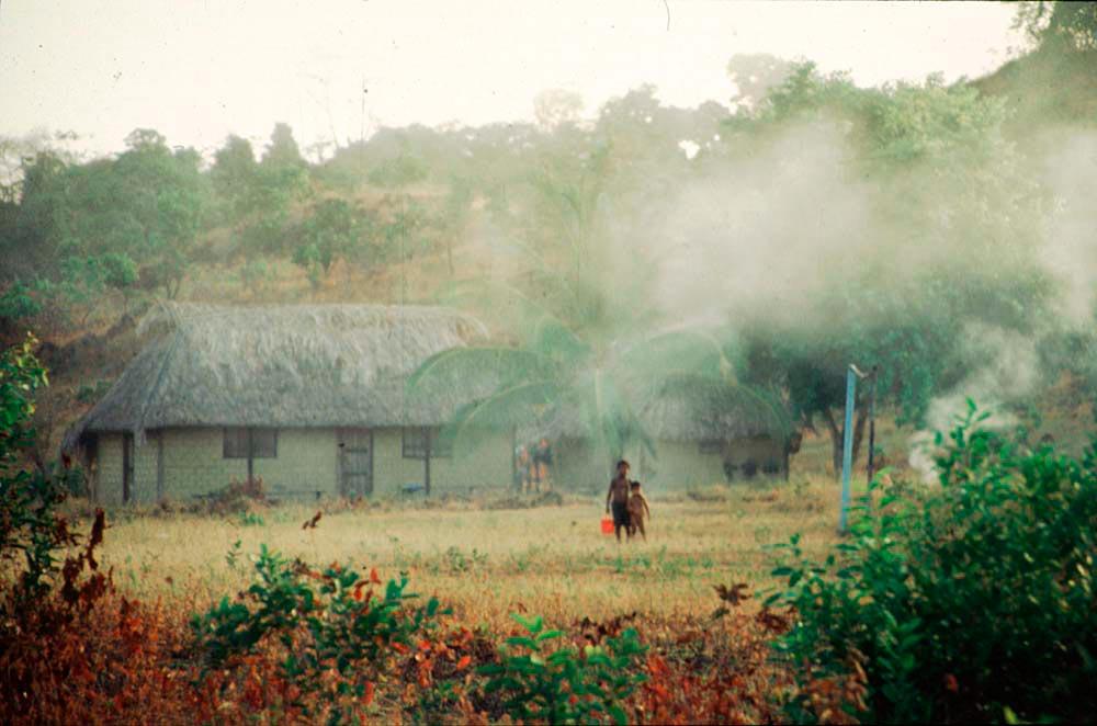 Morning mist in Annai. Photograph by Katrin Egerer
