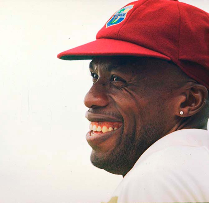 Curtly Ambrose. Photograph by Michael Steele/ Allsport